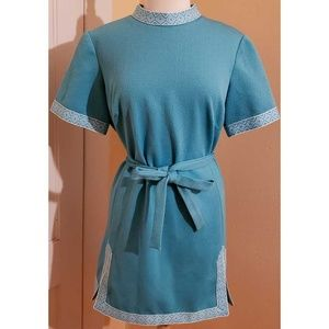 Vintage 60s Mod Geomtric Tunic Dress